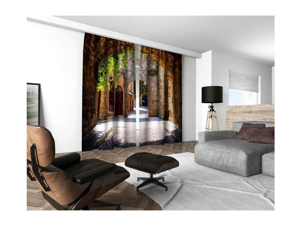 3D dekorační závěs 204V SECRET 2x160x250 cm set 2 kusy MyBestHome