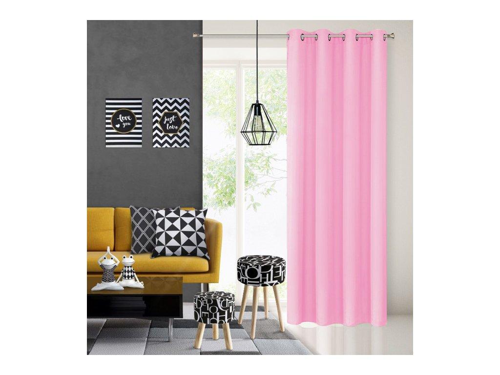Dekorační závěs EASY TOP světle růžová 1x140x250 cm MyBestHome