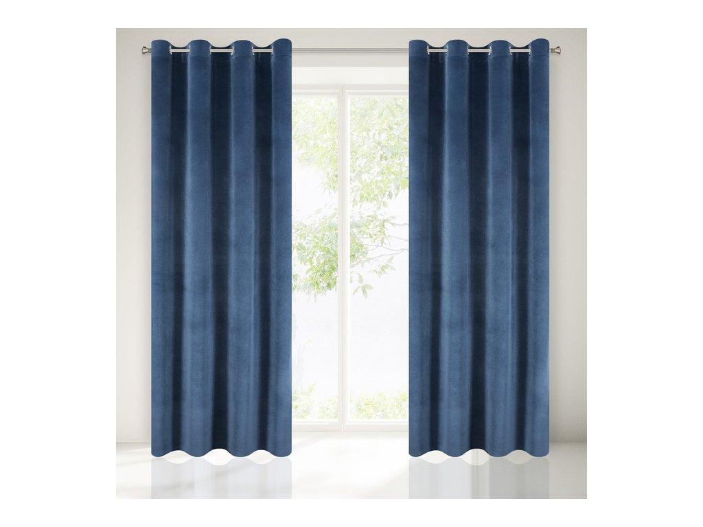Dekorační závěs zatemňující CALIFORNIA 140x250 cm, modrá, MyBestHome