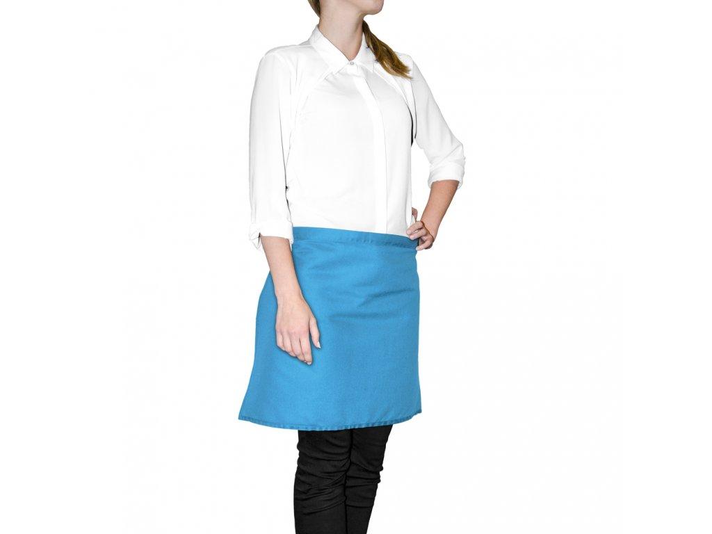 Kuchyňská bavlněná zástěra do pasu MULTICOLOR modrá, 45x65 cm, Essex, 100% bavlna