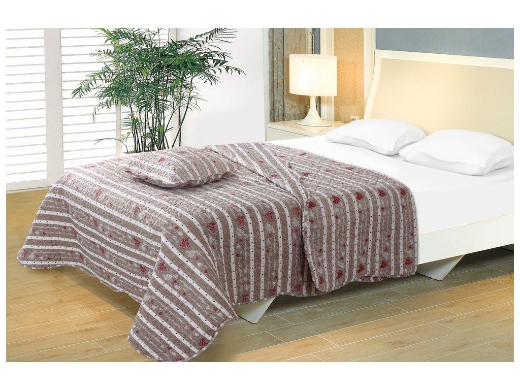 e219d0fe0565 Kvalitní oboustranný přehoz na postel ve stylu patchwork na ...
