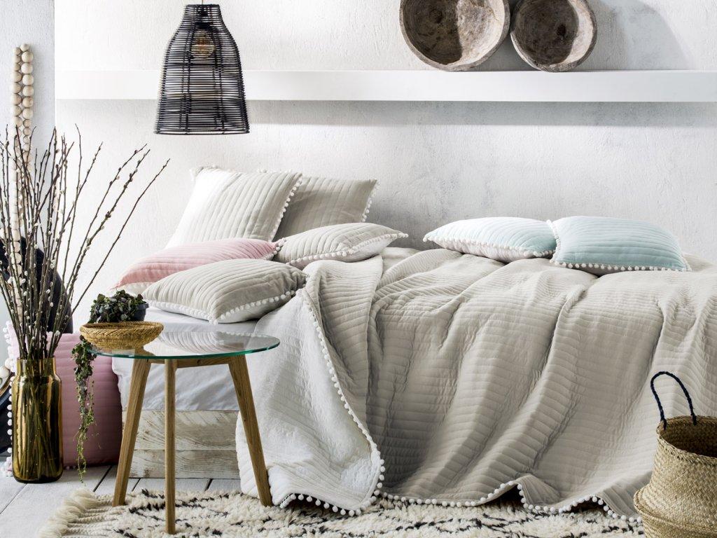 Přehoz na postel HARMONIA 220x240 cm béžová Mybesthome