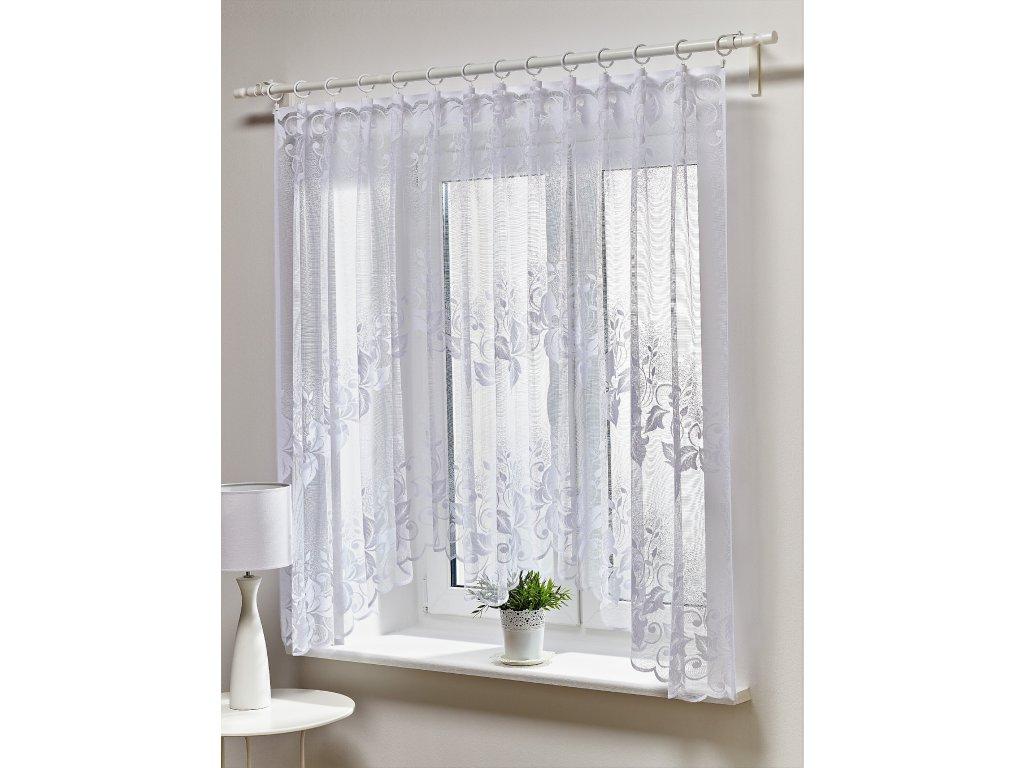 Dekorační oblouková krátká záclona ILONA bílá 300x150 cm MyBestHome