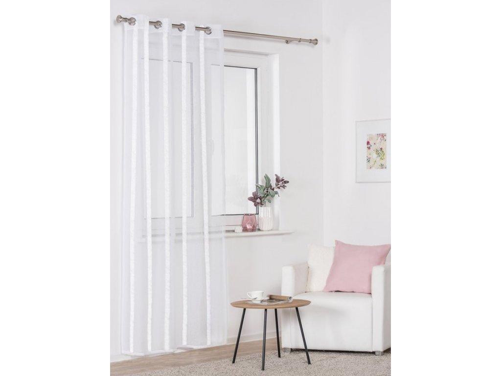 Dekorační vzorovaná záclona ATLAS bílá 140x250 cm MyBestHome