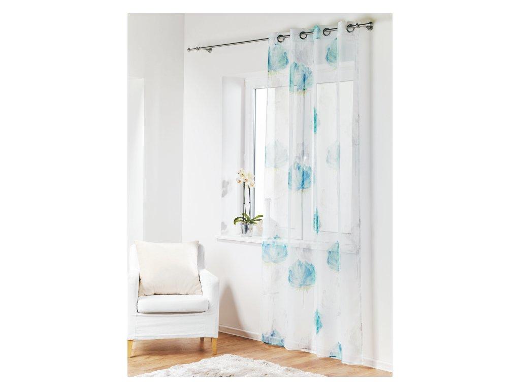 Dekorační vzorovaná záclona CARDO 140x245 cm MyBestHome