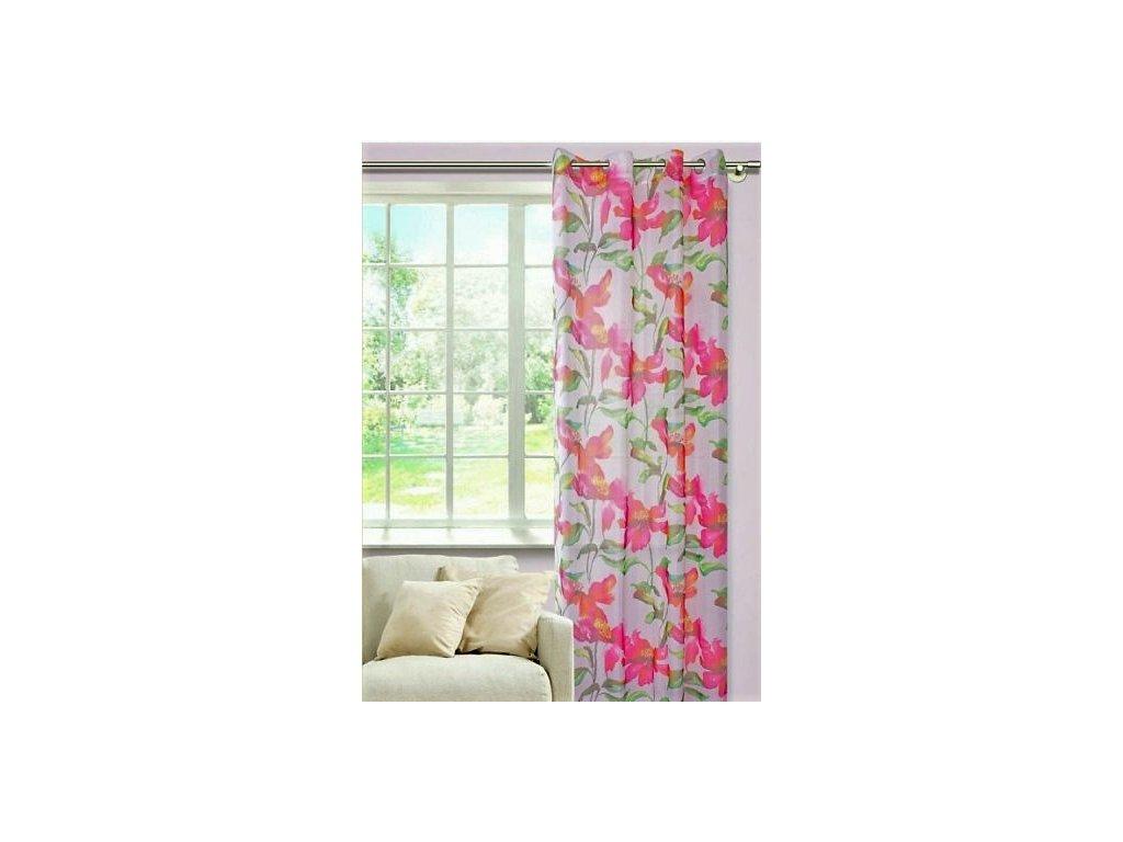 Dekorační vzorovaná záclona CLEMATIS 140x250 cm MyBestHome
