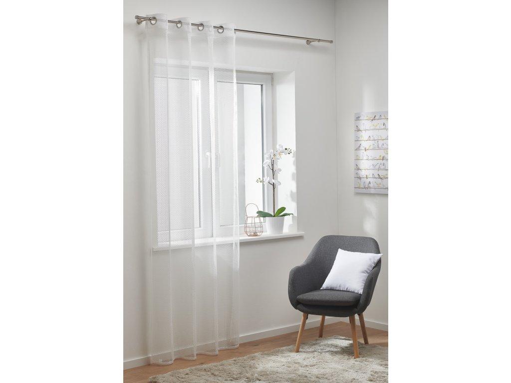 Dekorační síťovaná záclona HONEY bílá 140x250 cm MyBestHome