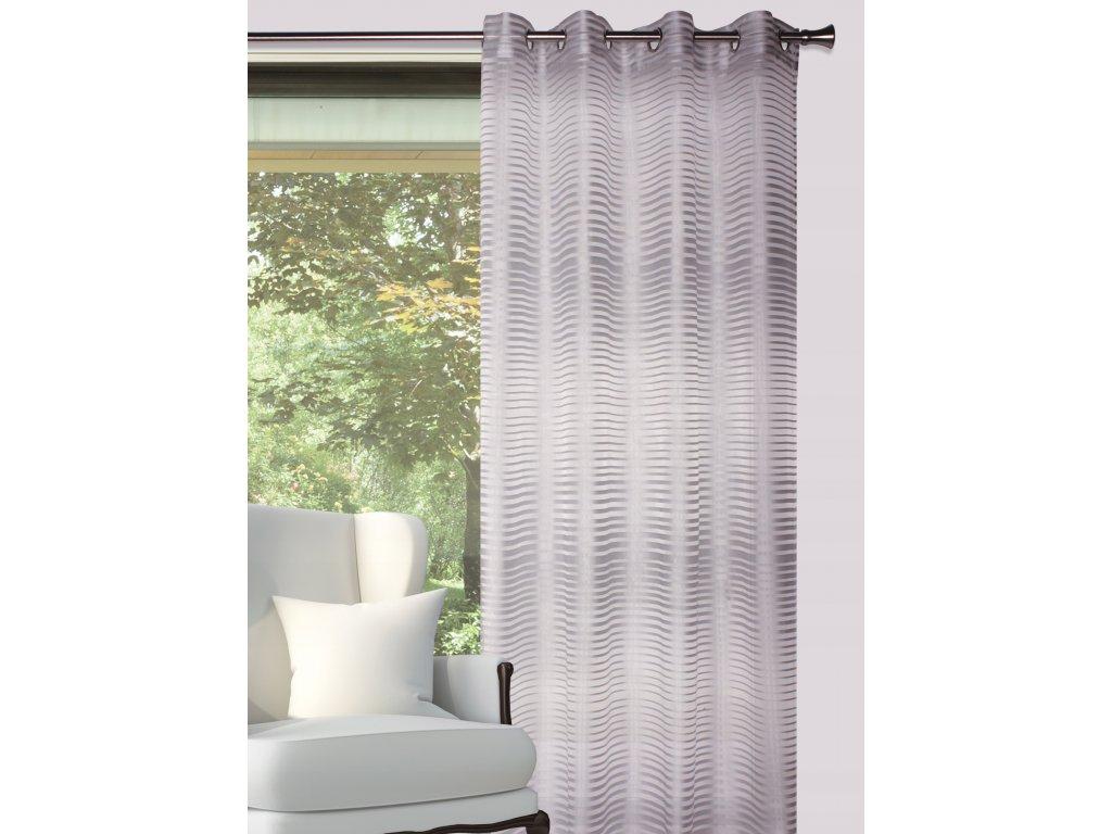 Dekorační vzorovaná záclona LAGOS šedá 140x250 cm MyBestHome