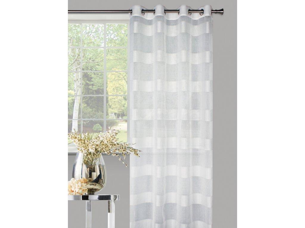 Dekorační vzorovaná záclona NOVA smetanová 140x250 cm MyBestHome
