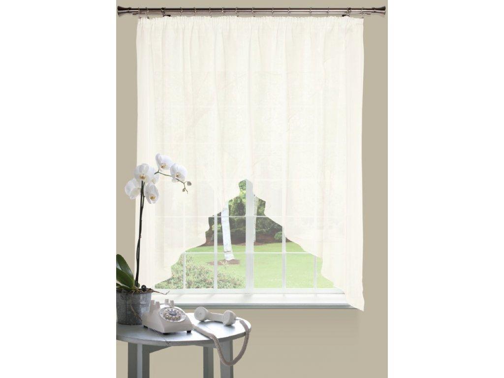 Dekorační oblouková krátká záclona MALWINA smetanová 290x160 cm MyBestHome
