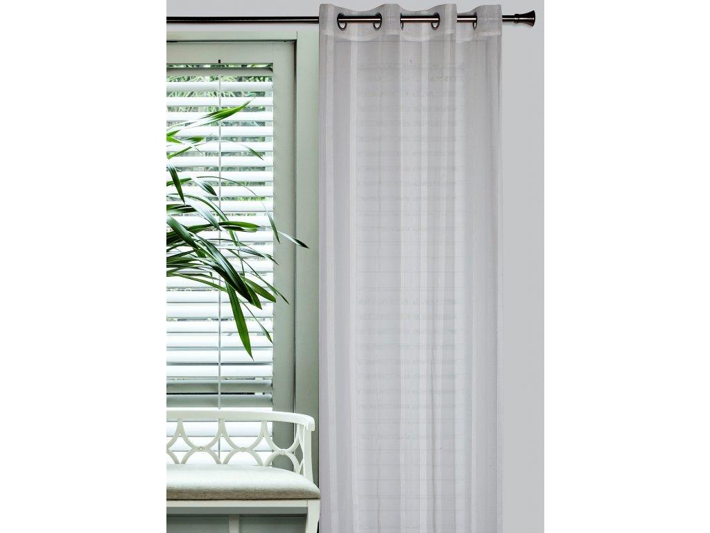 Dekorační vzorovaná záclona CONTI smetanová 140x250 cm MyBestHome