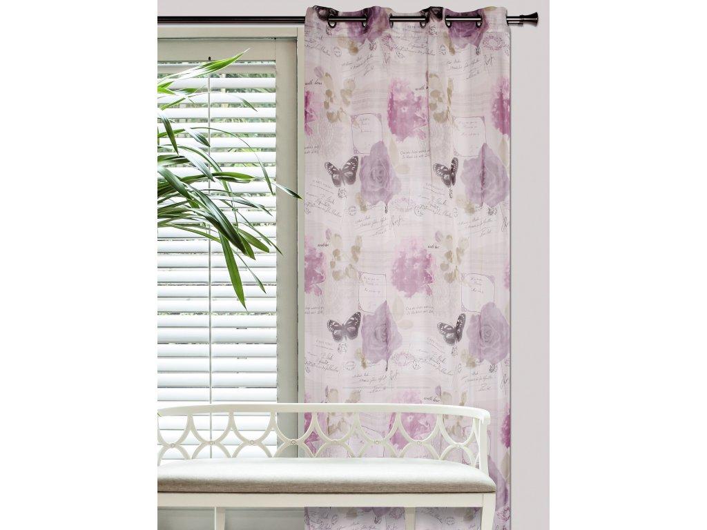 Dekorační vzorovaná záclona VALENTINO 140x250 cm MyBestHome