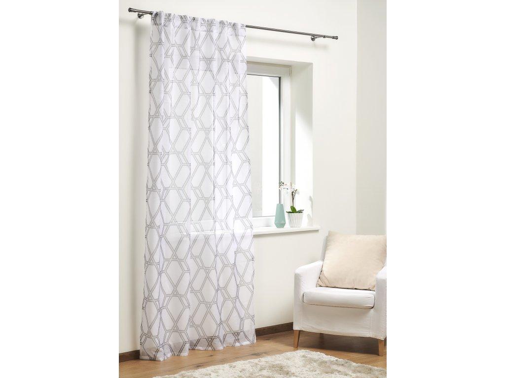 Dekorační záclona MALLA šedá 140x245 cm MyBestHome