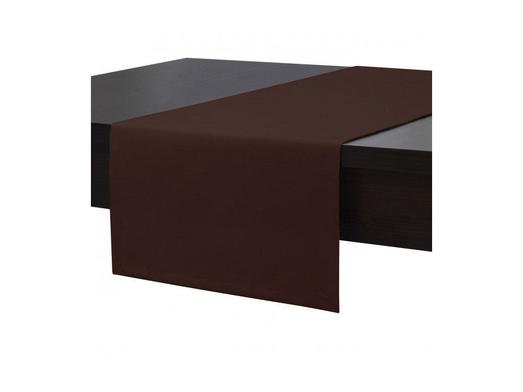 Ubrus - běhoun na stůl SIMPLE COLORS 45x90 cm, hnědá, ESSEX