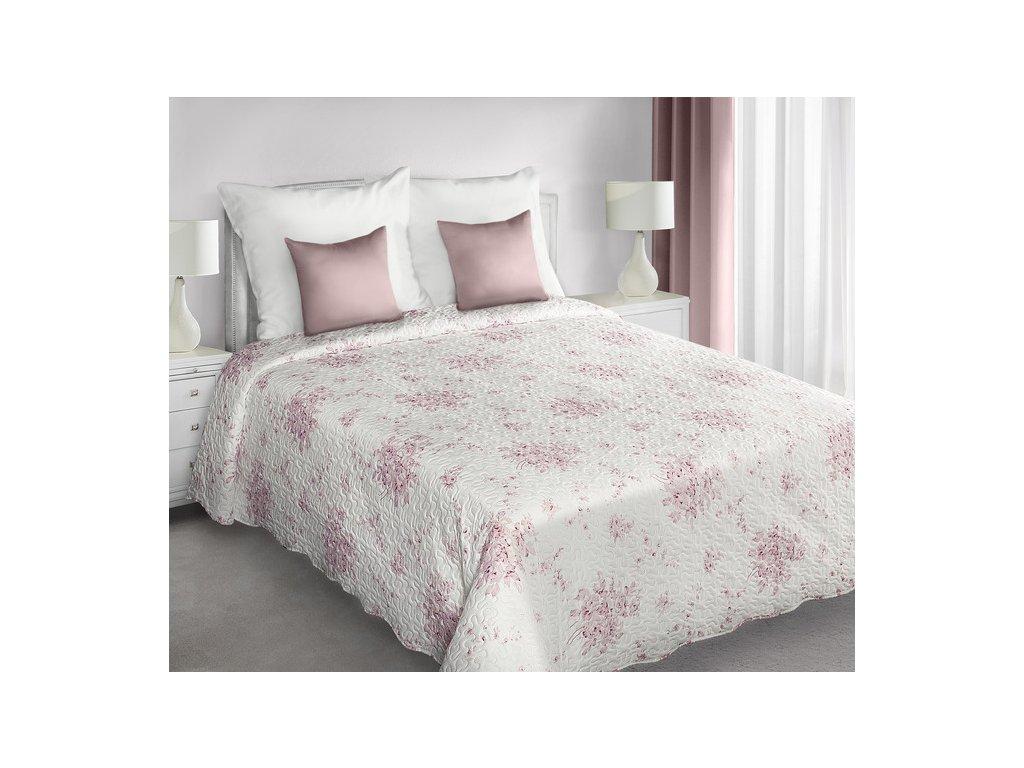 Přehoz na postel ROSITTA 220x240 cm růžová/béžová Mybesthome