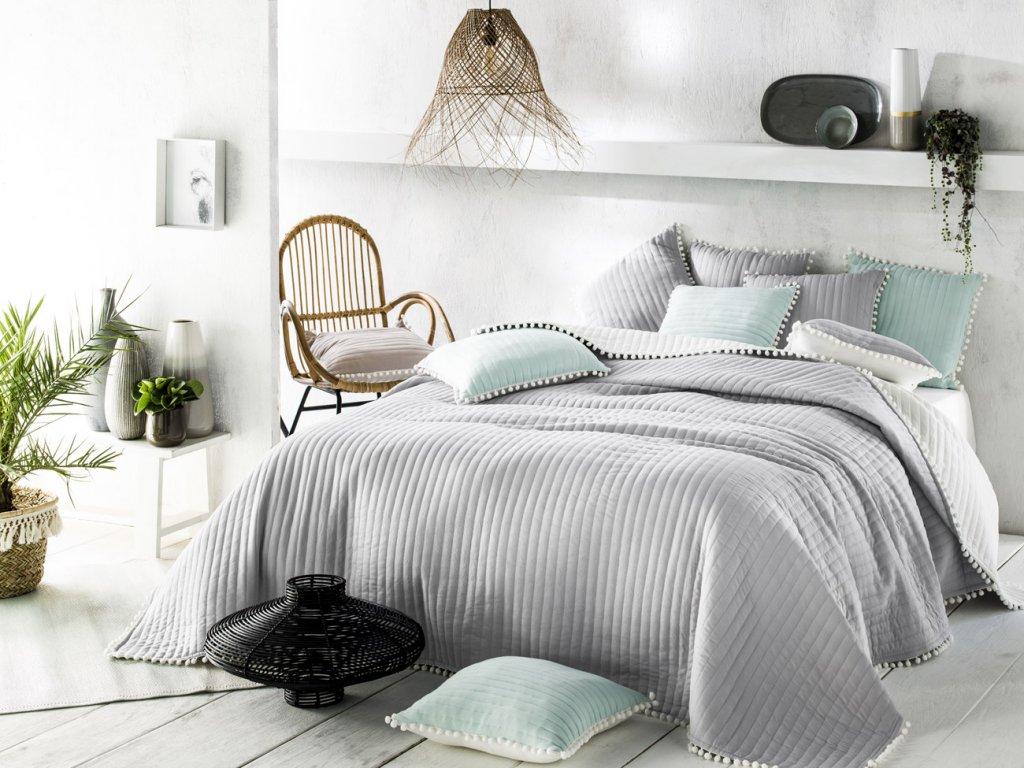 Přehoz na postel HARMONIA 220x240 cm šedá Mybesthome
