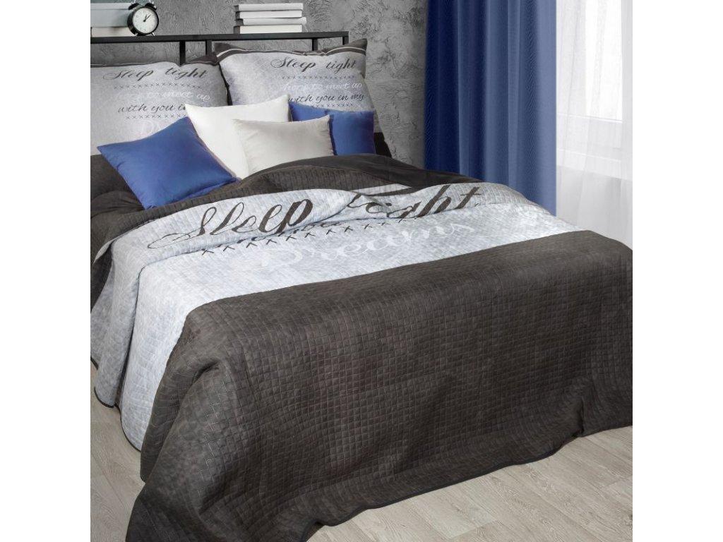 Přehoz na postel ARGENTA 220x240 cm šedá/stříbrná MyBestHome