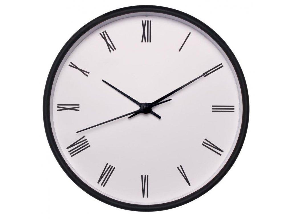 Nástěnné hodiny EASY bílá/černá Ø 25,5 cm Mybesthome