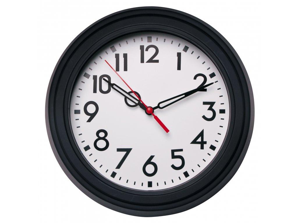 Nástěnné hodiny SOLID černá Ø 22 cm Mybesthome