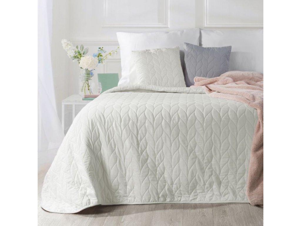 Přehoz na postel ZOLA 200x220 cm krémová Mybesthome