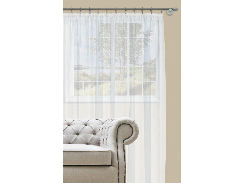 Dekorační záclona s řasící páskou DIANA bílá 400x260 cm MyBestHome