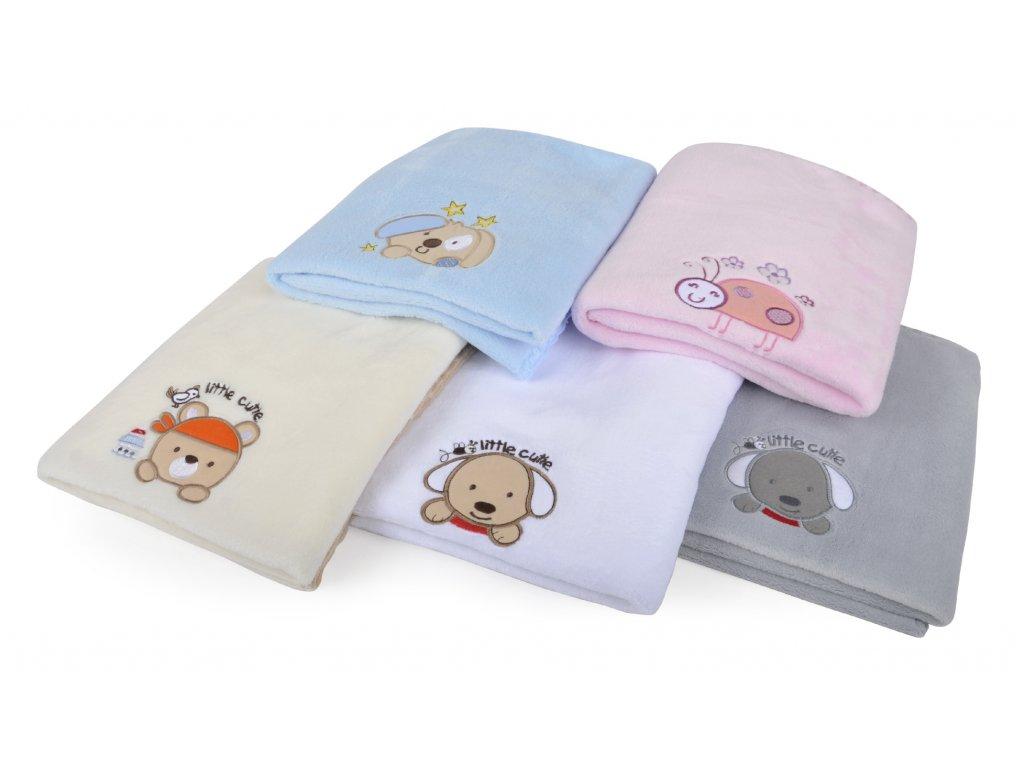 Dětská deka s aplikací DITA bílá 80x90 cm Mybesthome