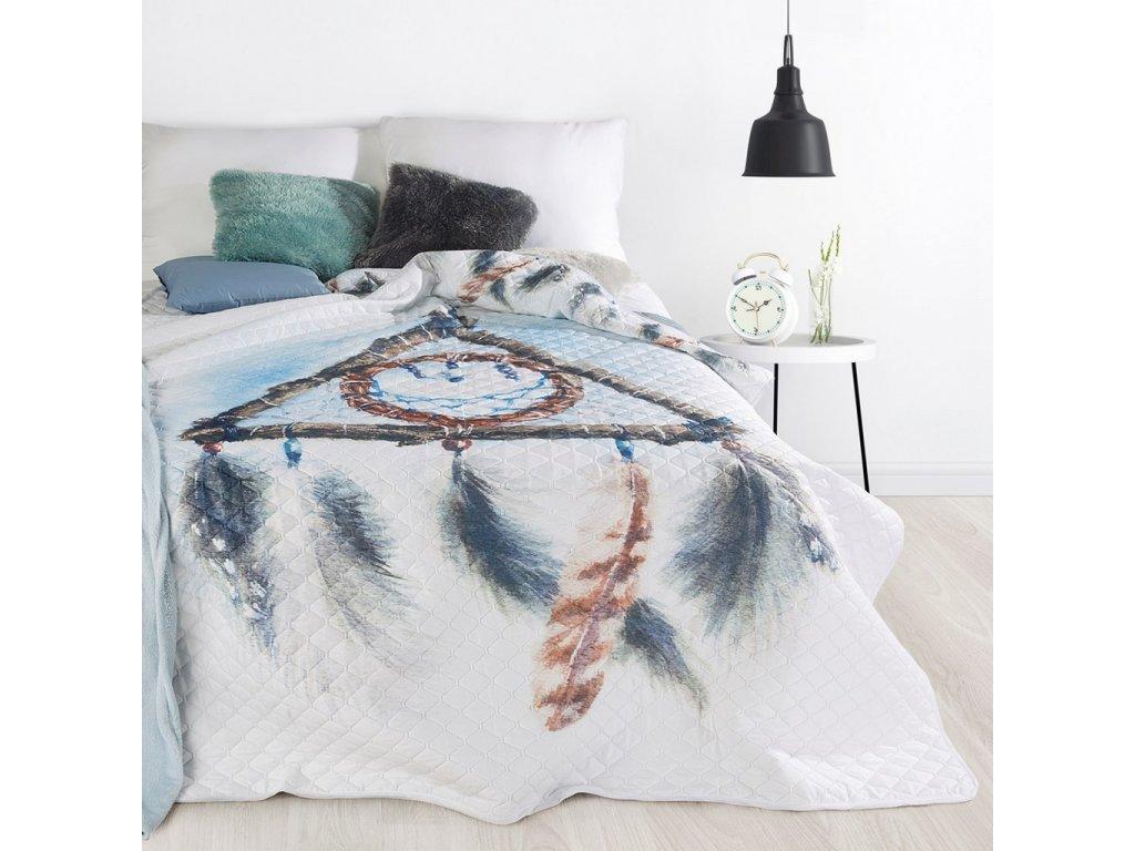 Přehoz na postel LAPAČ SNŮ - TEEPEE 200x220 cm šedá Mybesthome