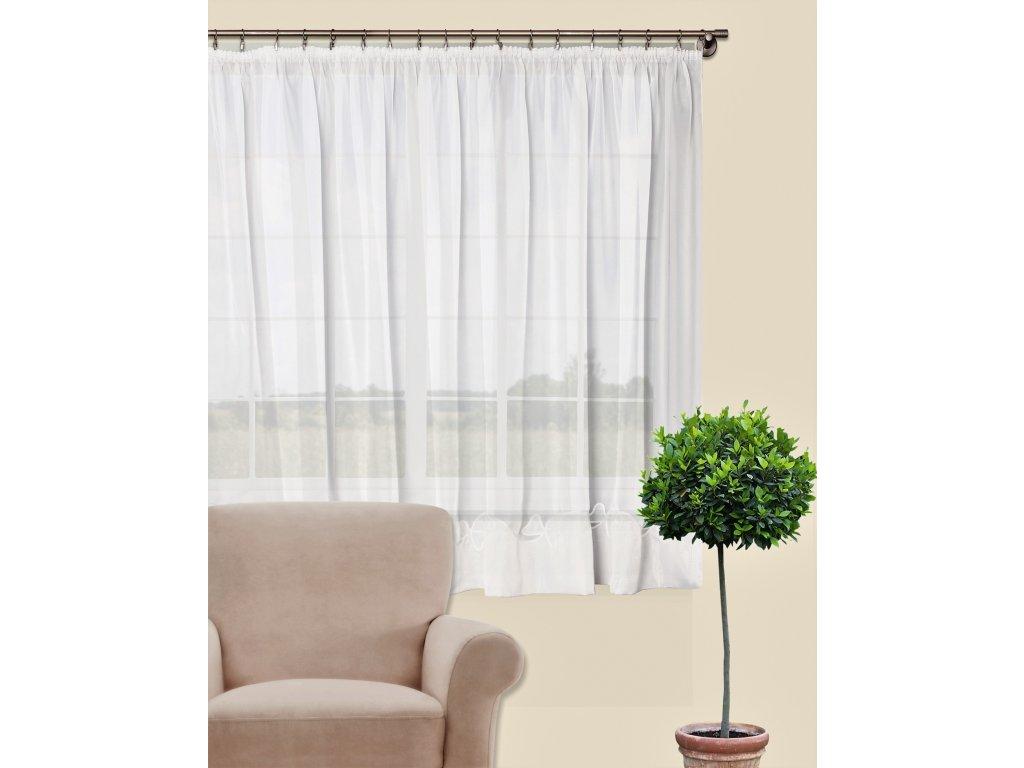 Dekorační oblouková krátká záclona WINTER bílá 300x160 cm MyBestHome