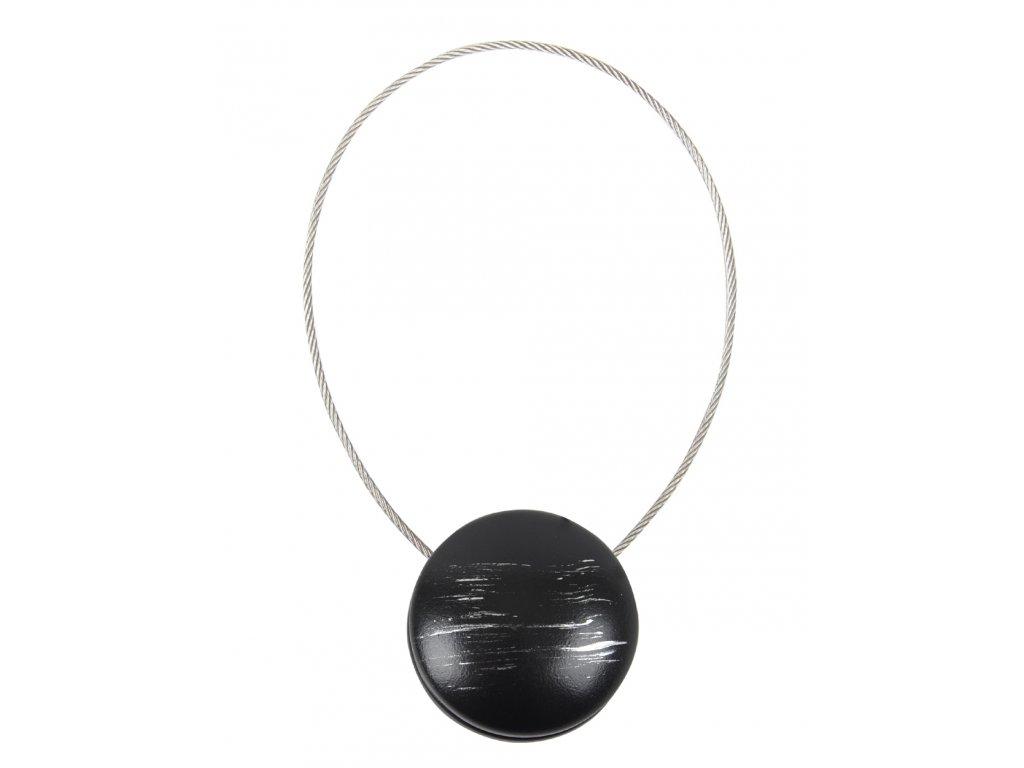 Dekorační ozdobná spona na závěsy s magnetem CALA, stříbrná, Ø 3,5 cm Mybesthome