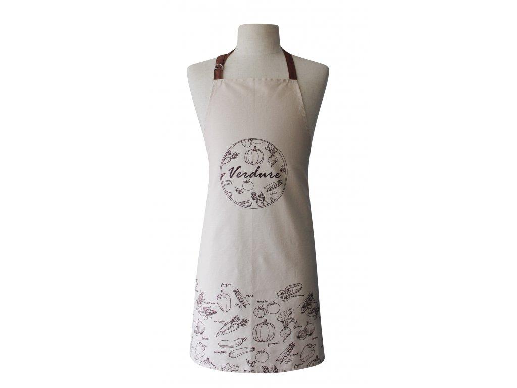 Kuchyňská bavlněná zástěra VERDURE béžová, Essex, 100% bavlna