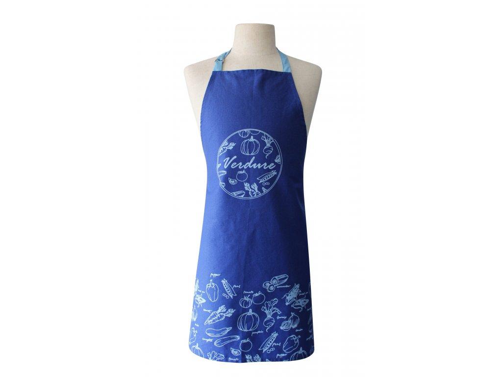 Kuchyňská bavlněná zástěra VERDURE modrá, Essex, 100% bavlna