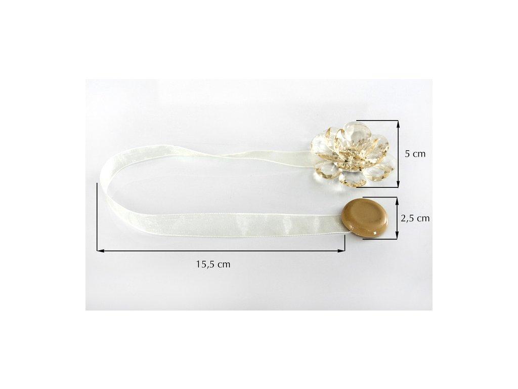 Dekorační ozdobná spona na závěsy s magnetem VALERIA, krémová, Ø 5 cm Mybesthome