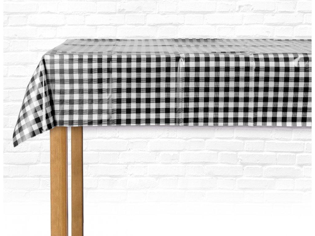 PVC ubrus COLOR 150x220 cm černá/bílá ESSEX