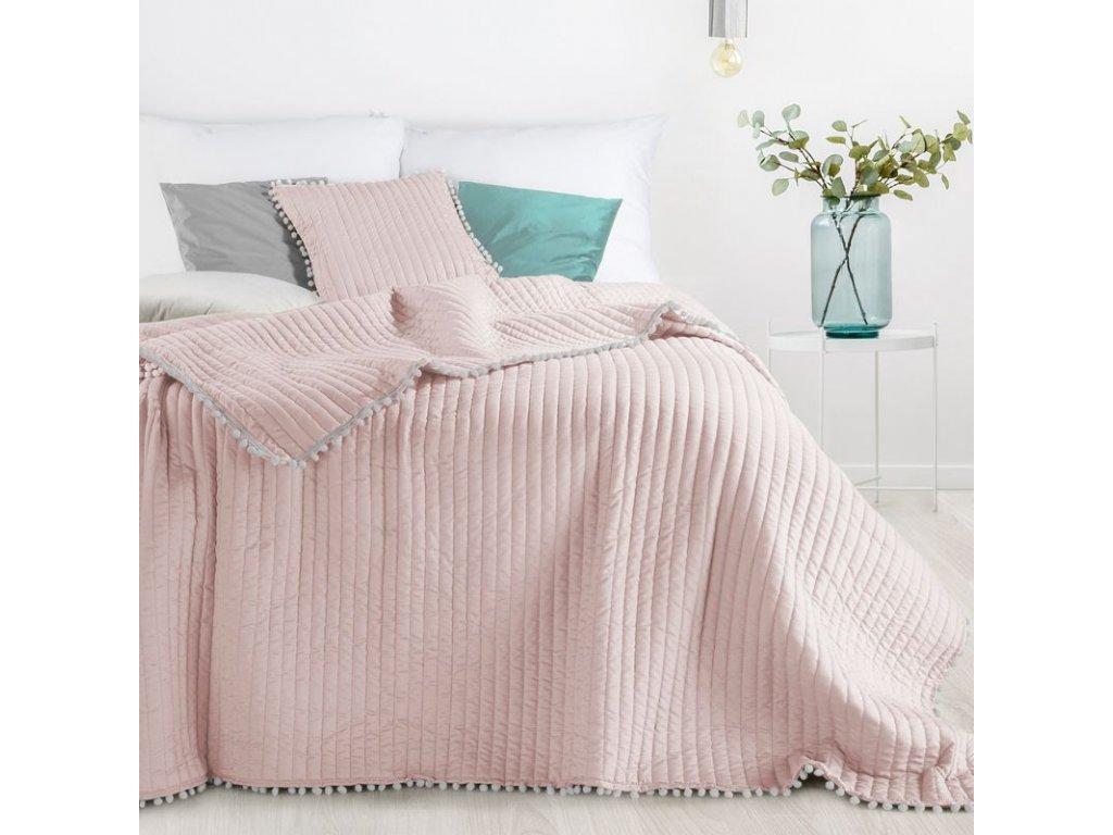 Přehoz na postel MIAMI 220x240 cm růžová Mybesthome