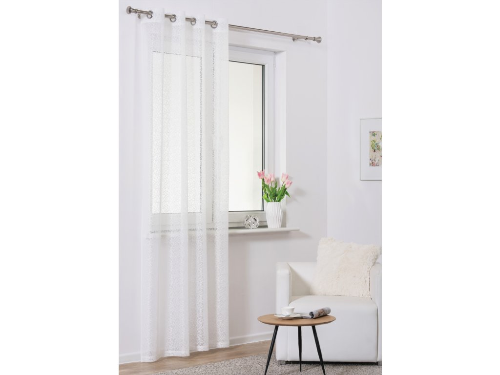 Dekorační záclona SUELO bílá 140x245 cm MyBestHome