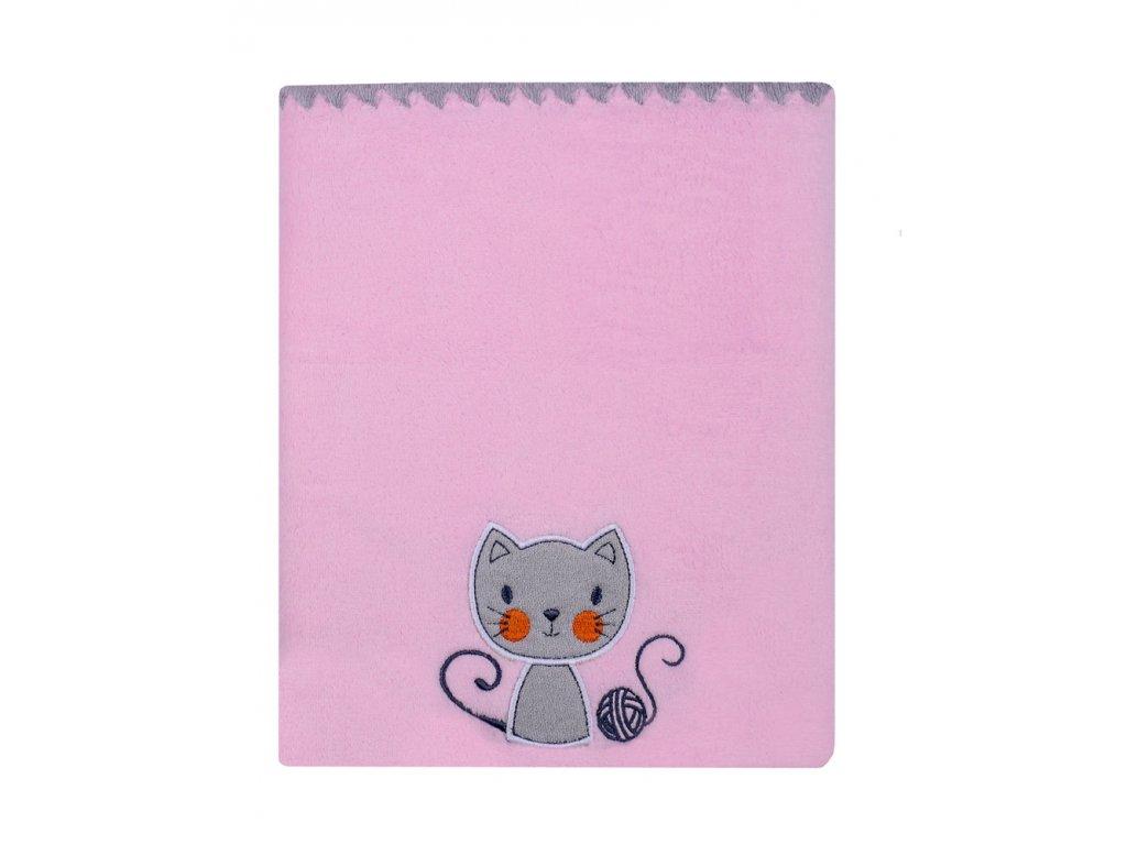 Dětská deka s aplikací ČIČI růžová 80x90 cm Mybesthome