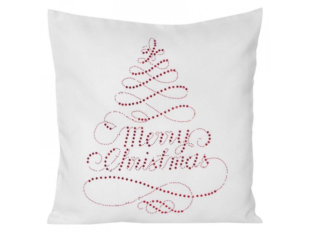 Polštář MERRY CHRISTMAS bílá MyBestHome 45x45cm