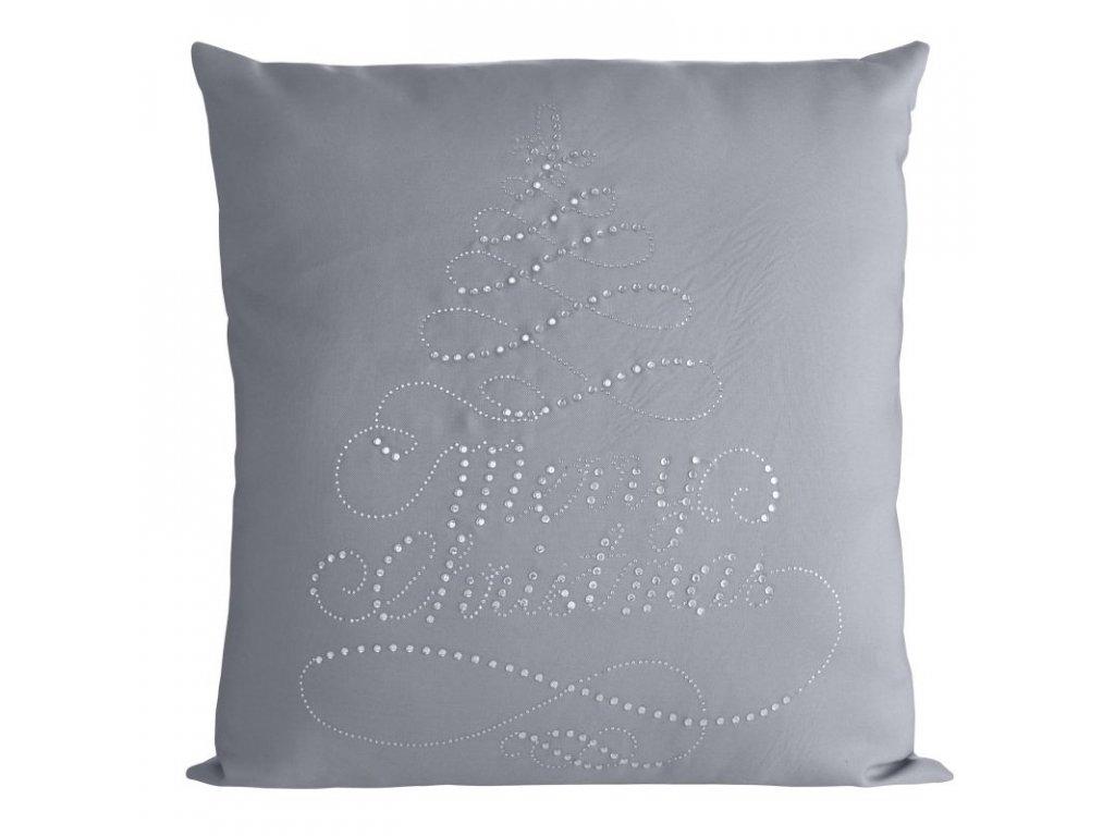 Polštář MERRY CHRISTMAS stříbrná MyBestHome 45x45cm