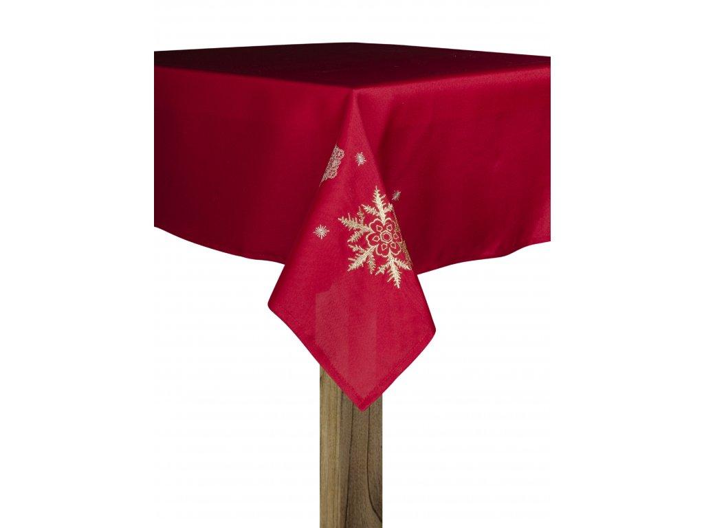 Ubrus FROZEN DREAM, 80x80 cm červená, ESSEX