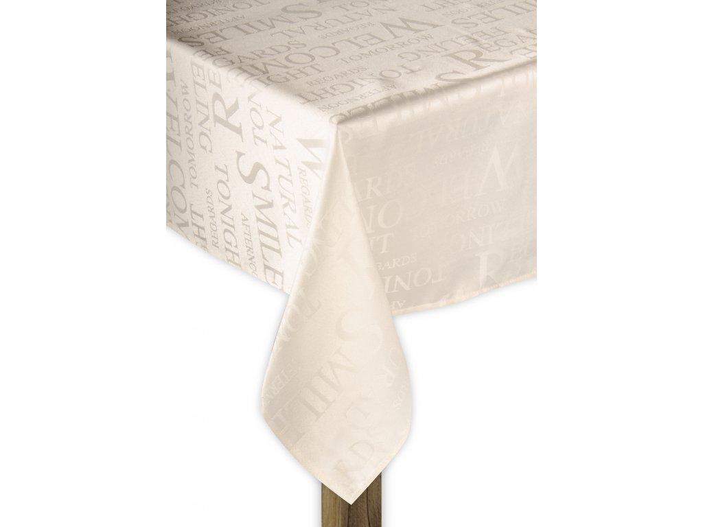 Ubrus POETRY smetanová motiv A 130x180 cm, ESSEX