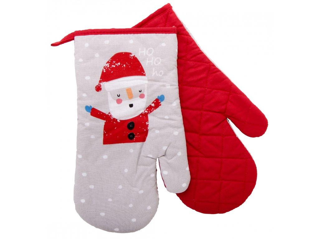 Kuchyňské rukavice chňapky FUNNY CHRISTMAS HO HO 18x30 cm Essex