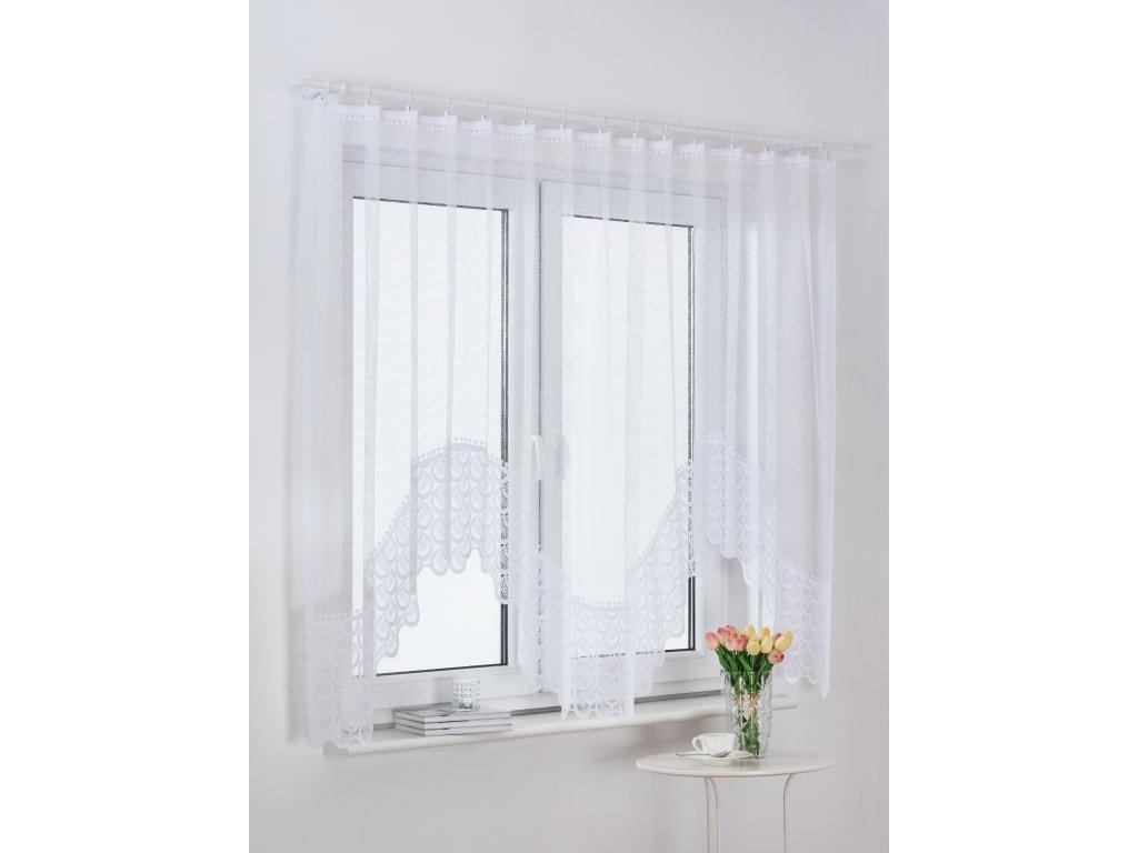 Dekorační oblouková krátká záclona VANESSA bílá 300x150 cm MyBestHome