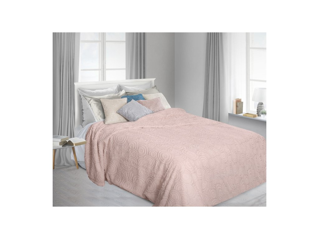 Přehoz na postel OLGA 220x240 cm růžová Mybesthome
