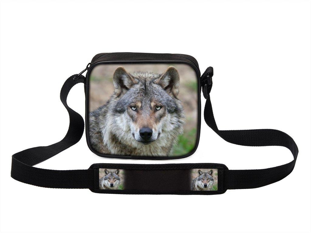 Taška přes rameno MINI s vlkem 19 MyBestHome 19x17x6 cm