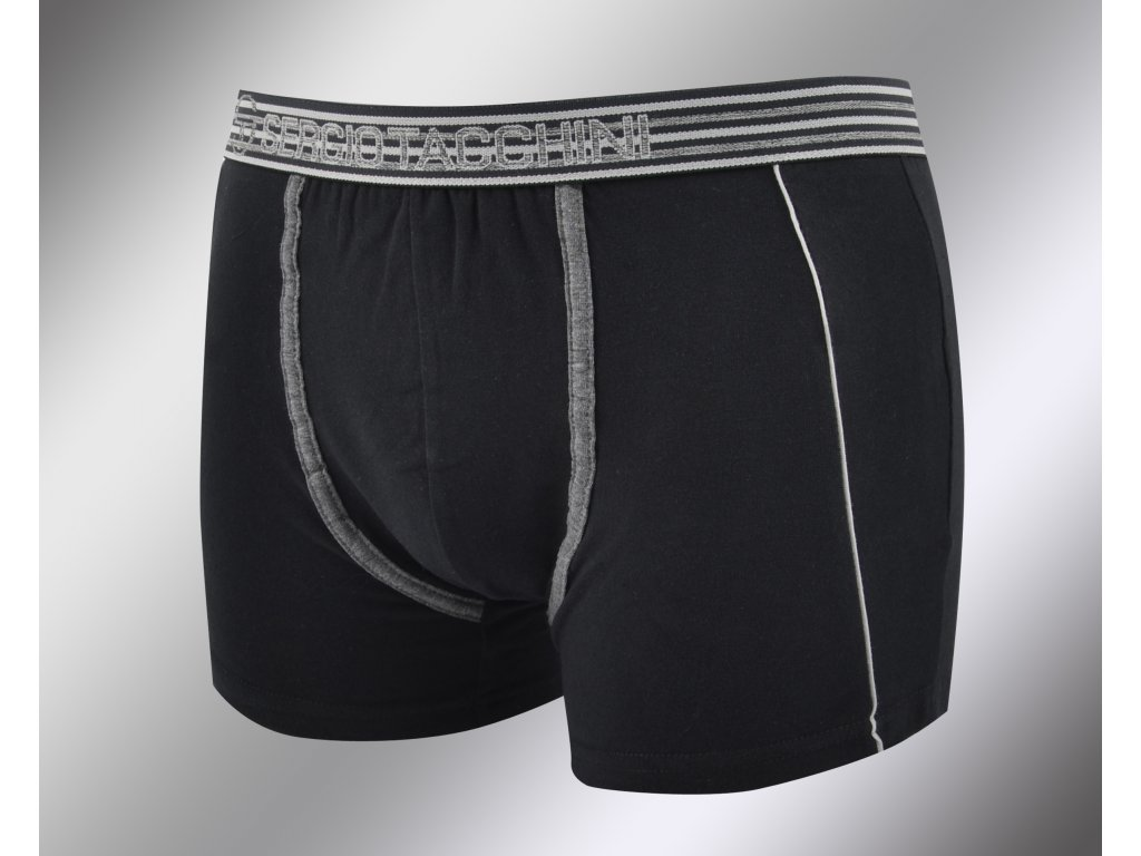Pánské vzorované boxerky 17870 nero Sergio Tacchini