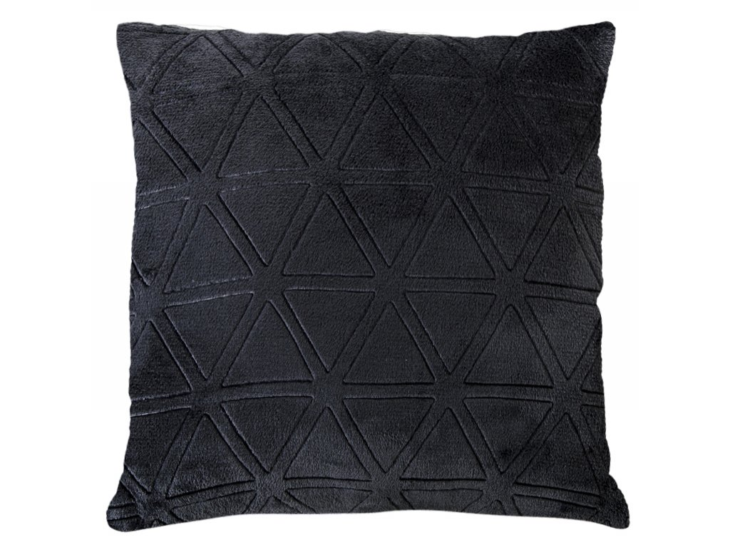 Polštář GEOMETRICA tmavě šedá Essex 40x40cm, mikrovlákno geometrický vzor