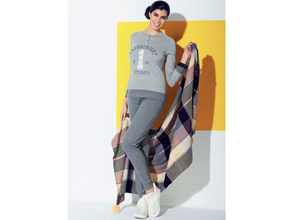 Dámské interlokové zimní pyžamo IN UP WOMEN 23755 Sergio Tacchini