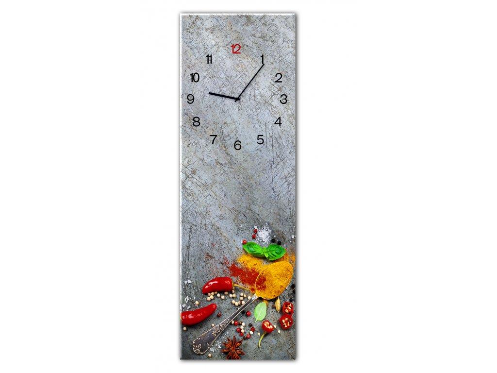 Skleněné nástěnné hodiny SILVER SPOON 20x60 cm Styler