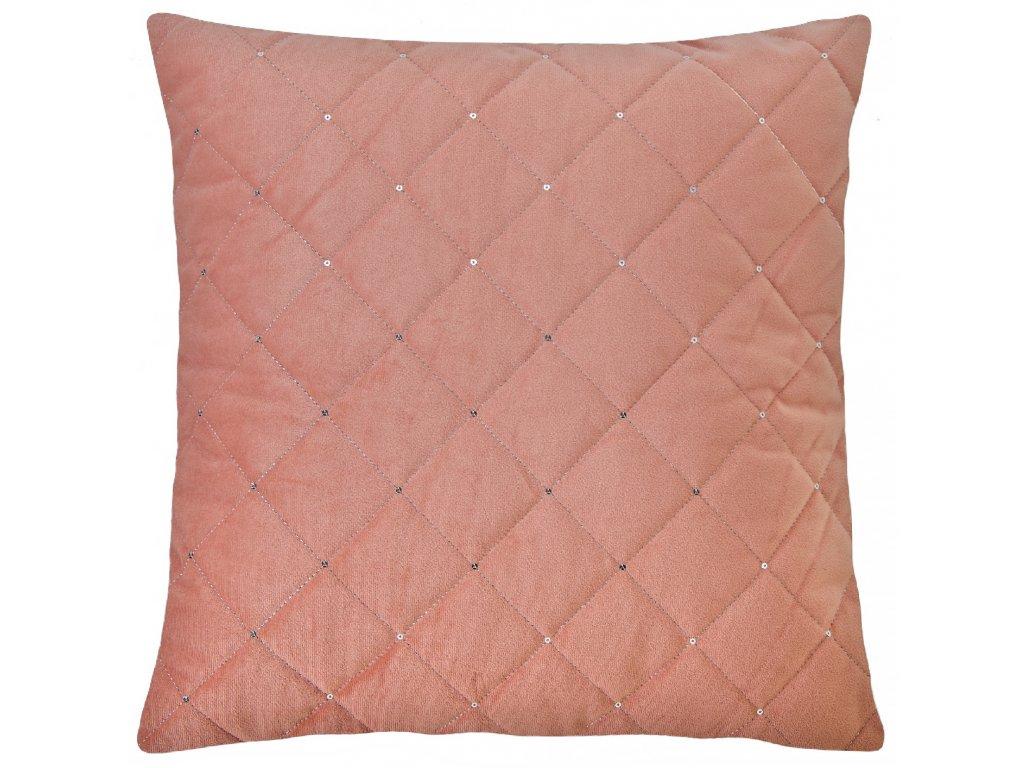 Polštář SPANGLES růžová 45x45 cm Essex