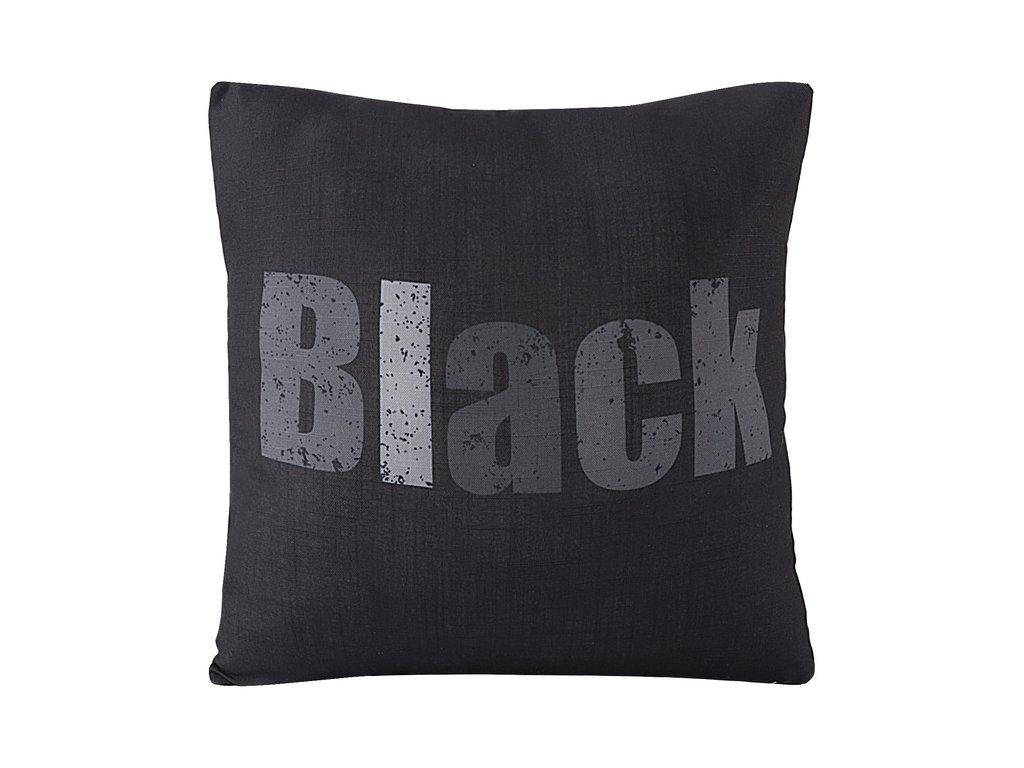 Polštář COLORS černá MyBestHome 45x45cm